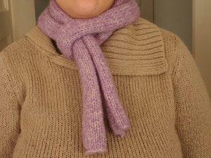 photo écharpe violette
